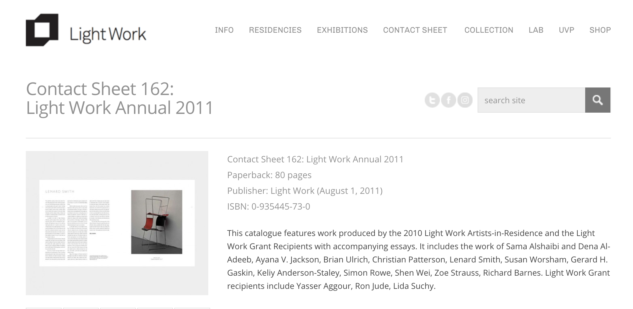 Light Work Artist Residency Program