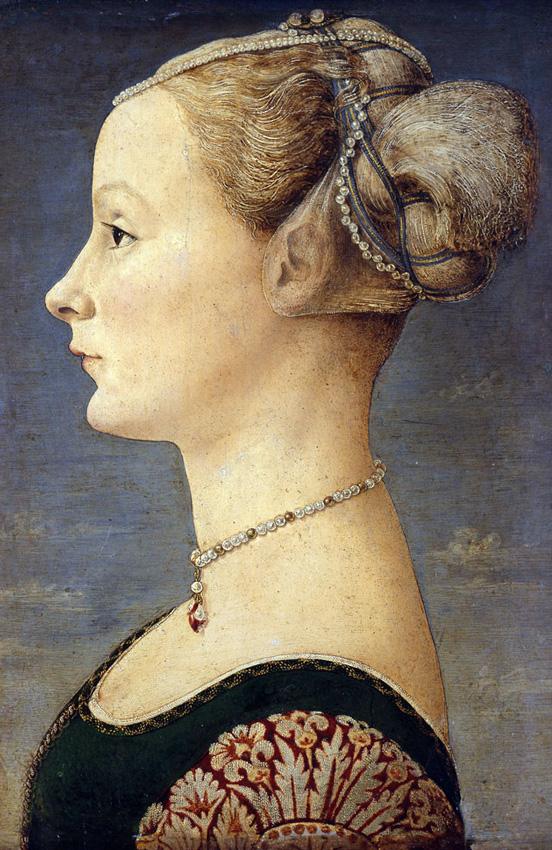 Antonio del Pollaiuolo,  Portrait of a Young Woman , c. 1465–70