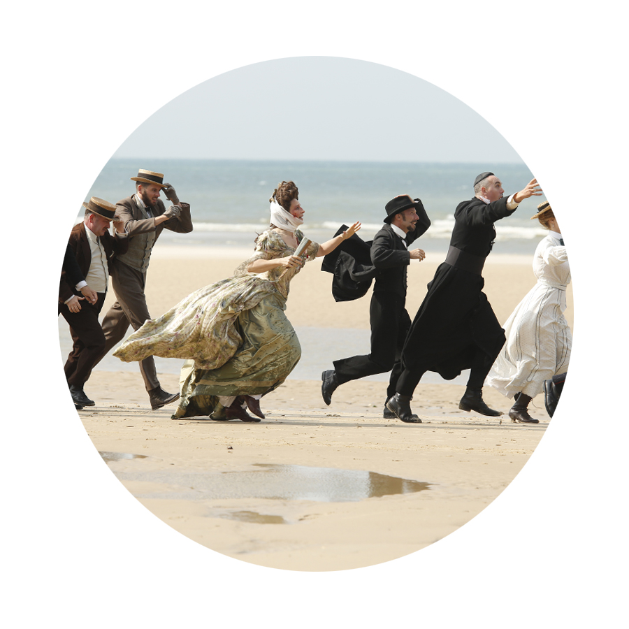 (Racing from the Q&A with Ella Havelka, for  Ella .) Gathering mussels. Parasol aloft. Hoping for surreal beauty over petticoat whimsy.   #MIFF2016   film 35 is   SLACK BAY (D/S Bruno Dumont)   at the Comedy Theatre.  (Postscript:   What was I thinking?  )