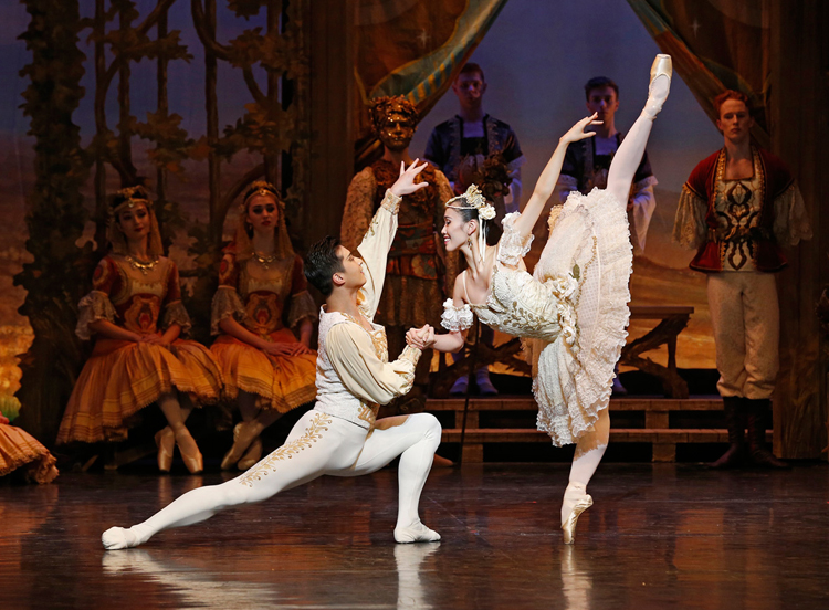 Ako Kondo and Chengwu Guo in The Australian Ballet's  Coppélia , photographed by Jeff Busby