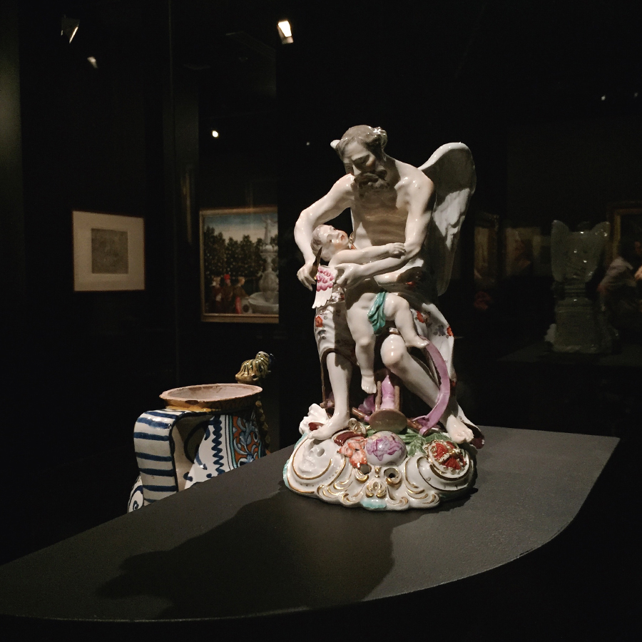 Father   Time clipping the wings of love  , c. 1765–70, porcelain (soft paste),   Love: Art of Emotion 1400–1800  , at NGV, on a homeward whim.