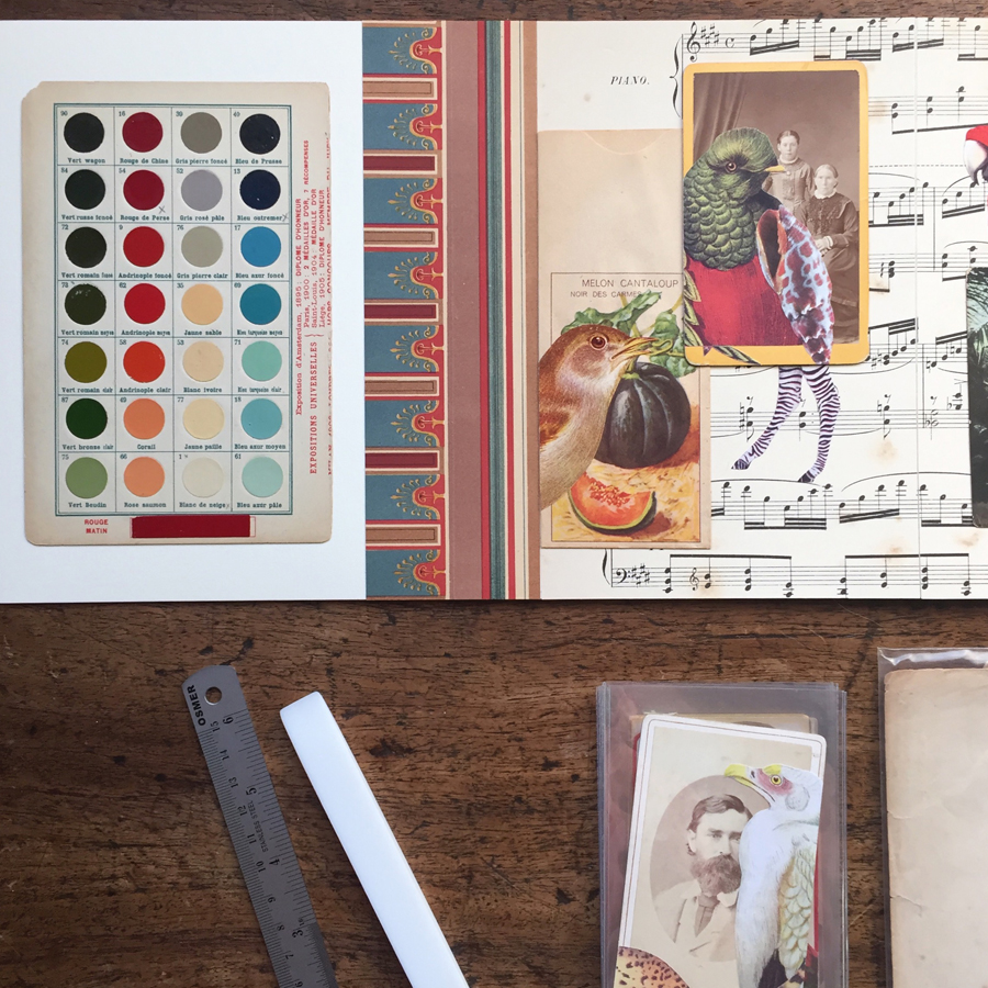 A closer look at an earlier stage  of an artists' book recently commissioned as a special gift.