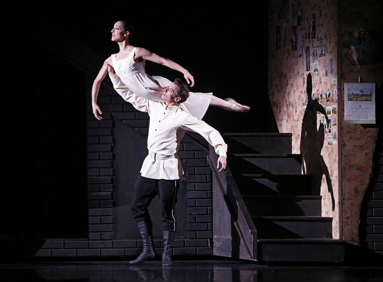 Kevin Jackson and Leanne Stojmenov in Graeme Murphy's  Nutcracker — The Story of Clara , 2017, photographed by Jeff Busby