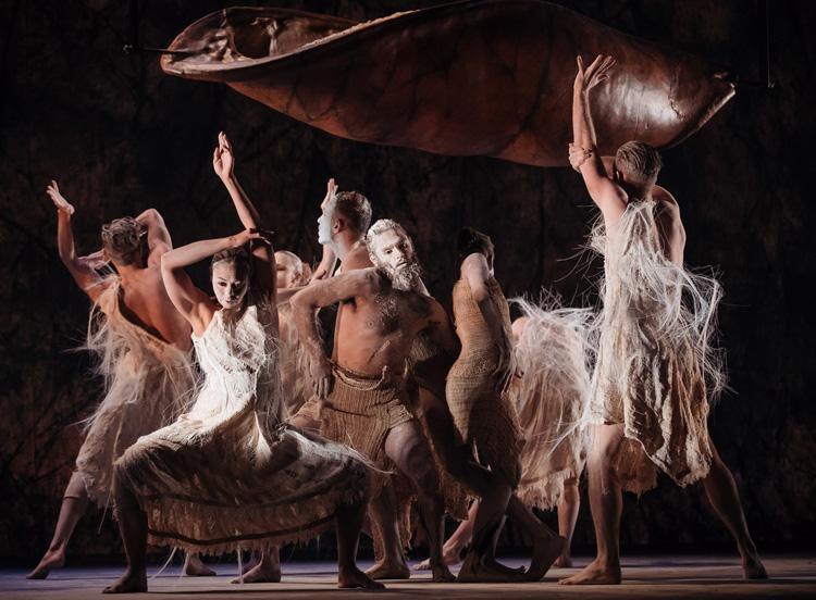 Bangarra Dance Theatre's  Dark Emu , 2018, photographed by Daniel Boud