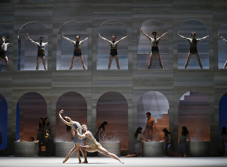 Robyn Hendricks, Kevin Jackson, and artists from The Australian Ballet perform  Spartacus , 2018, photographed by Jeff Busby