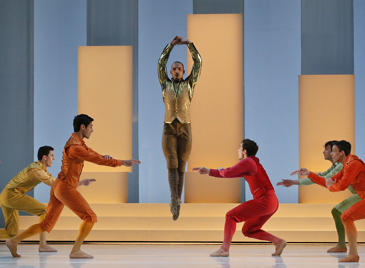 Les Ballets de Monte-Carlo in Jean-Christophe Maillot's  LAC , photographed by Jeff Busby