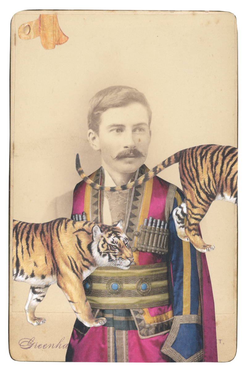 In the borrowed costume for Lezghin, c. 1912, from Thamar