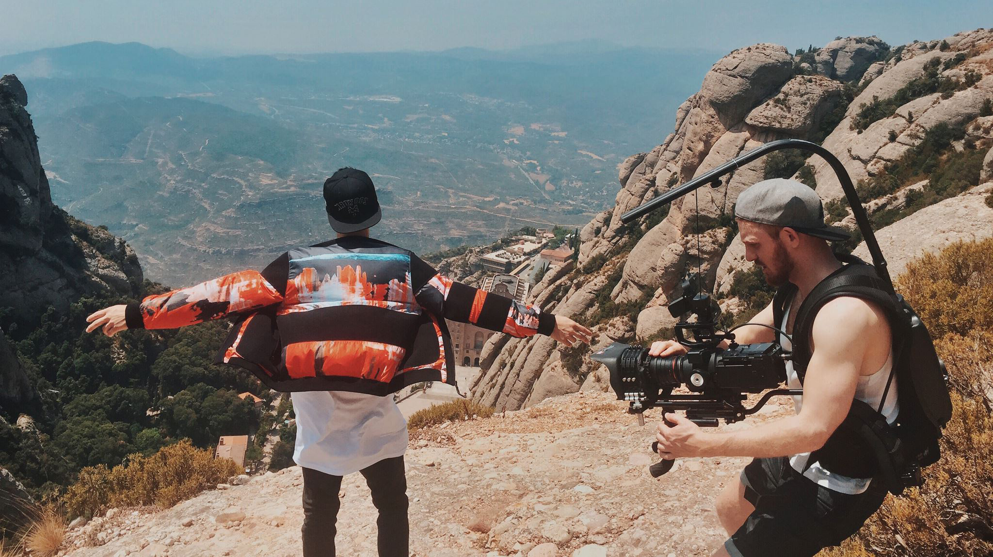 Filming the music video for Saint James 'Daytona'