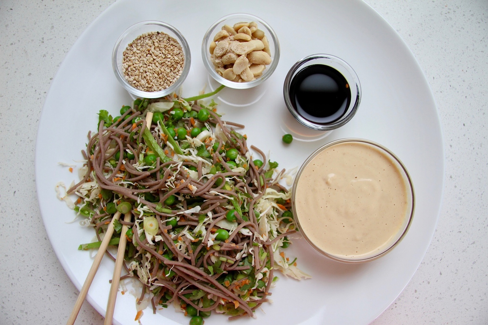 Lighter, Brighter You Recipe: Buckwheat Noodle Salad with Peanut Dressing