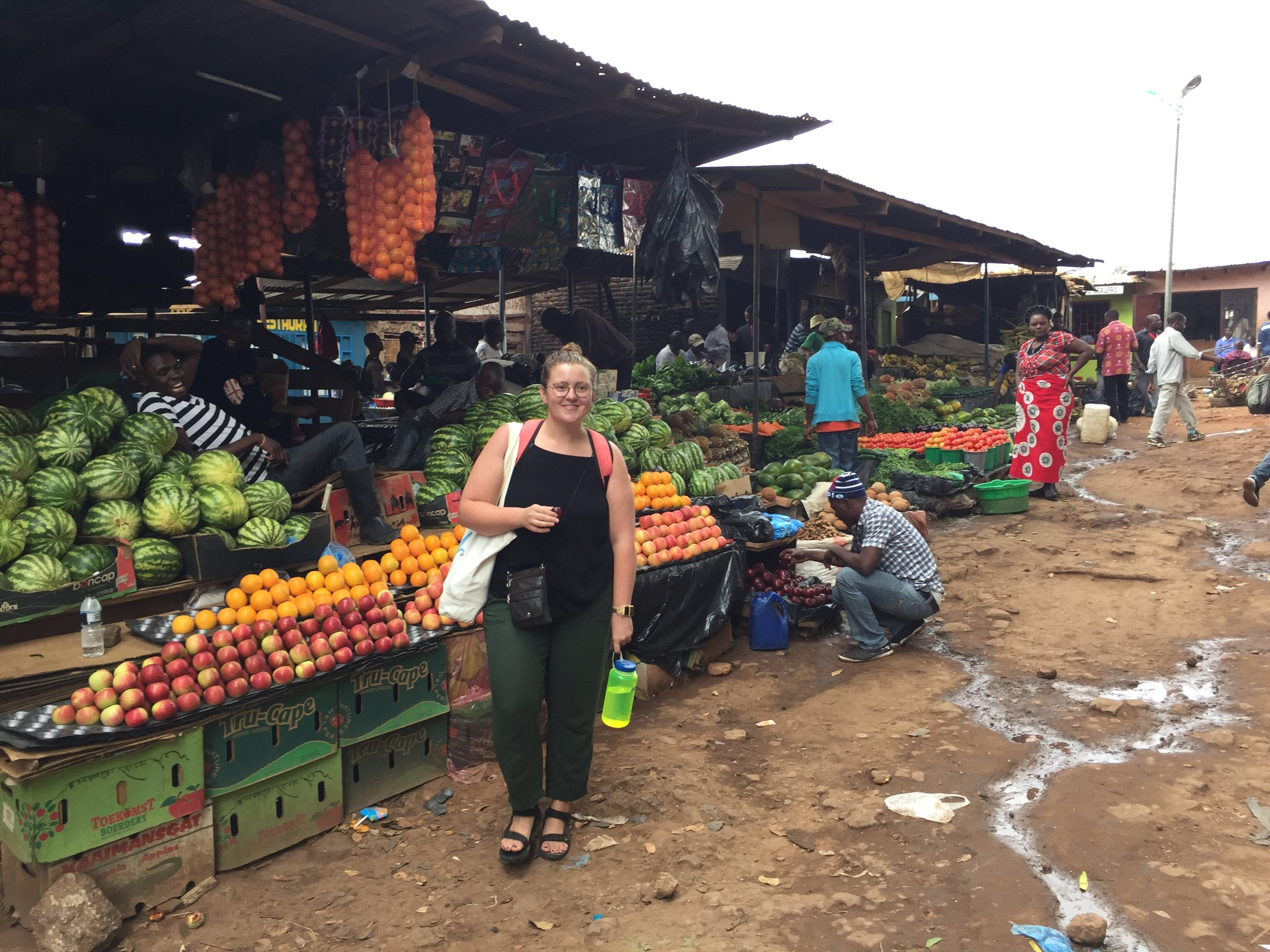 Shopping in the produce market in Lilongwe.