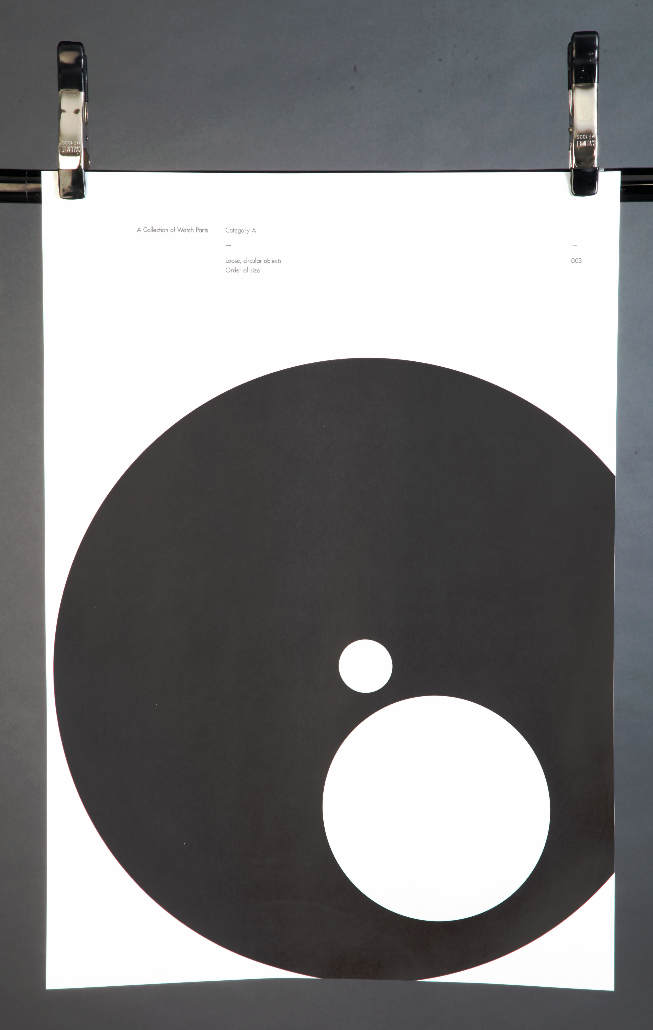 A1 poster of  circular objects