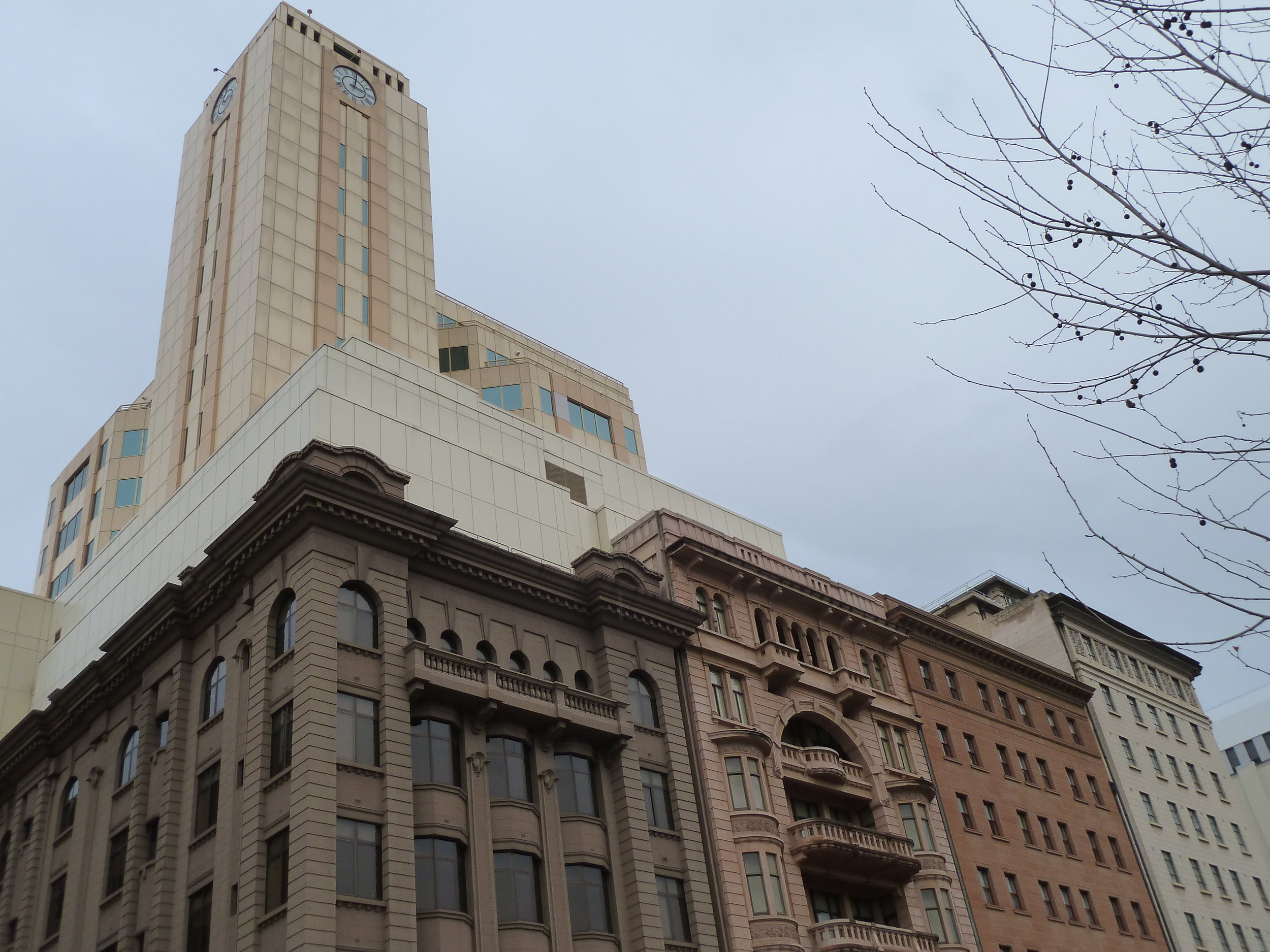 North Terrace façades with not-so-nice behind