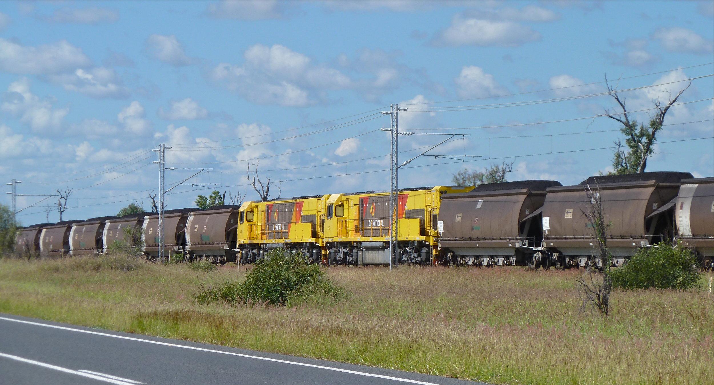 Coal train heading for Gladstone, Central Queensland