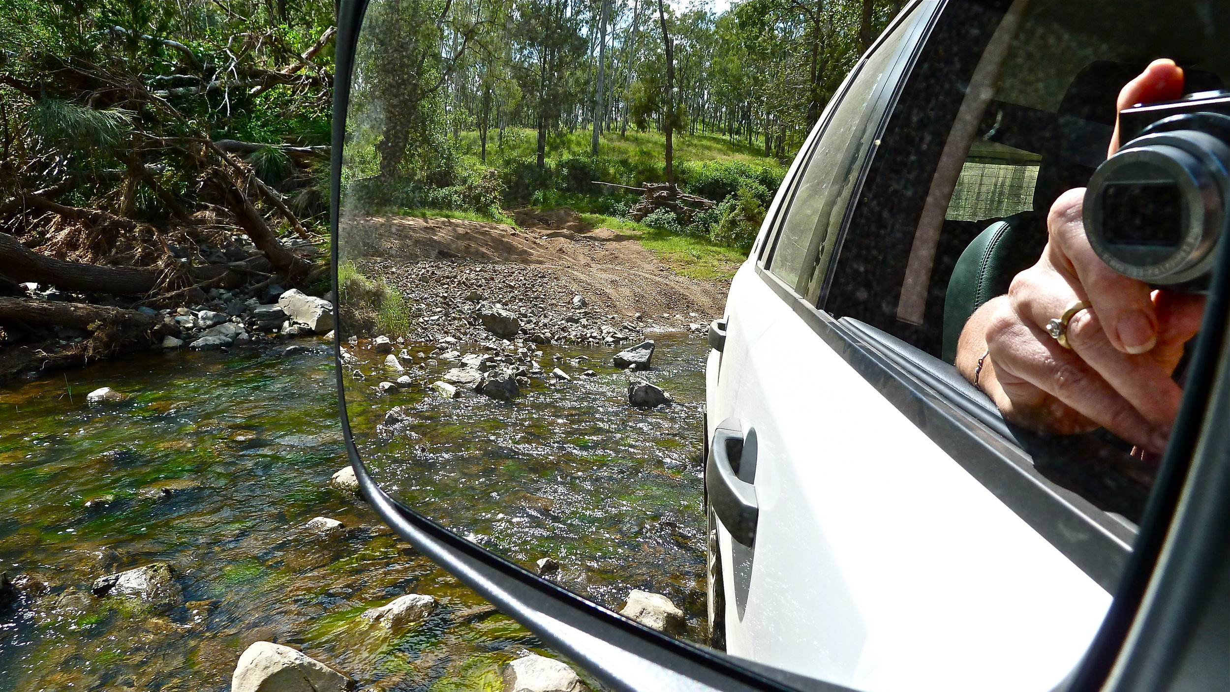 Mar:  crossing a creek in the wilderness (near the headwaters of the Brisbane River)