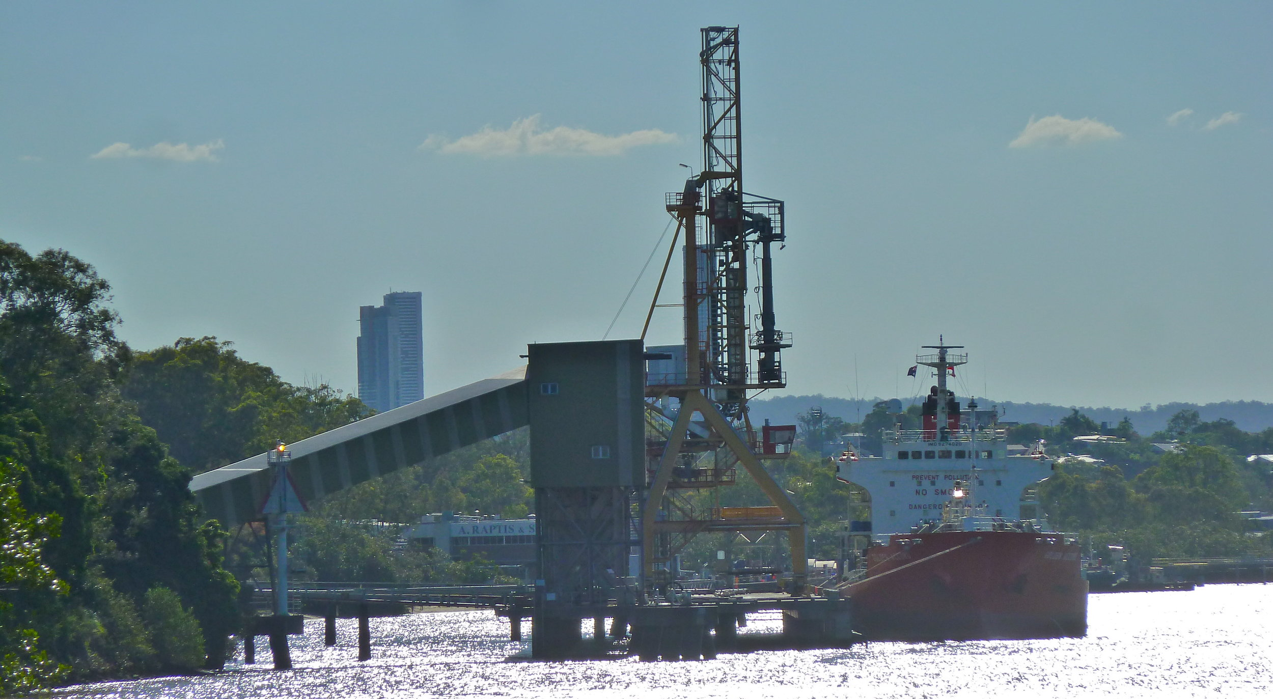 Dec:  working Brisbane River near the Gateway Bridge
