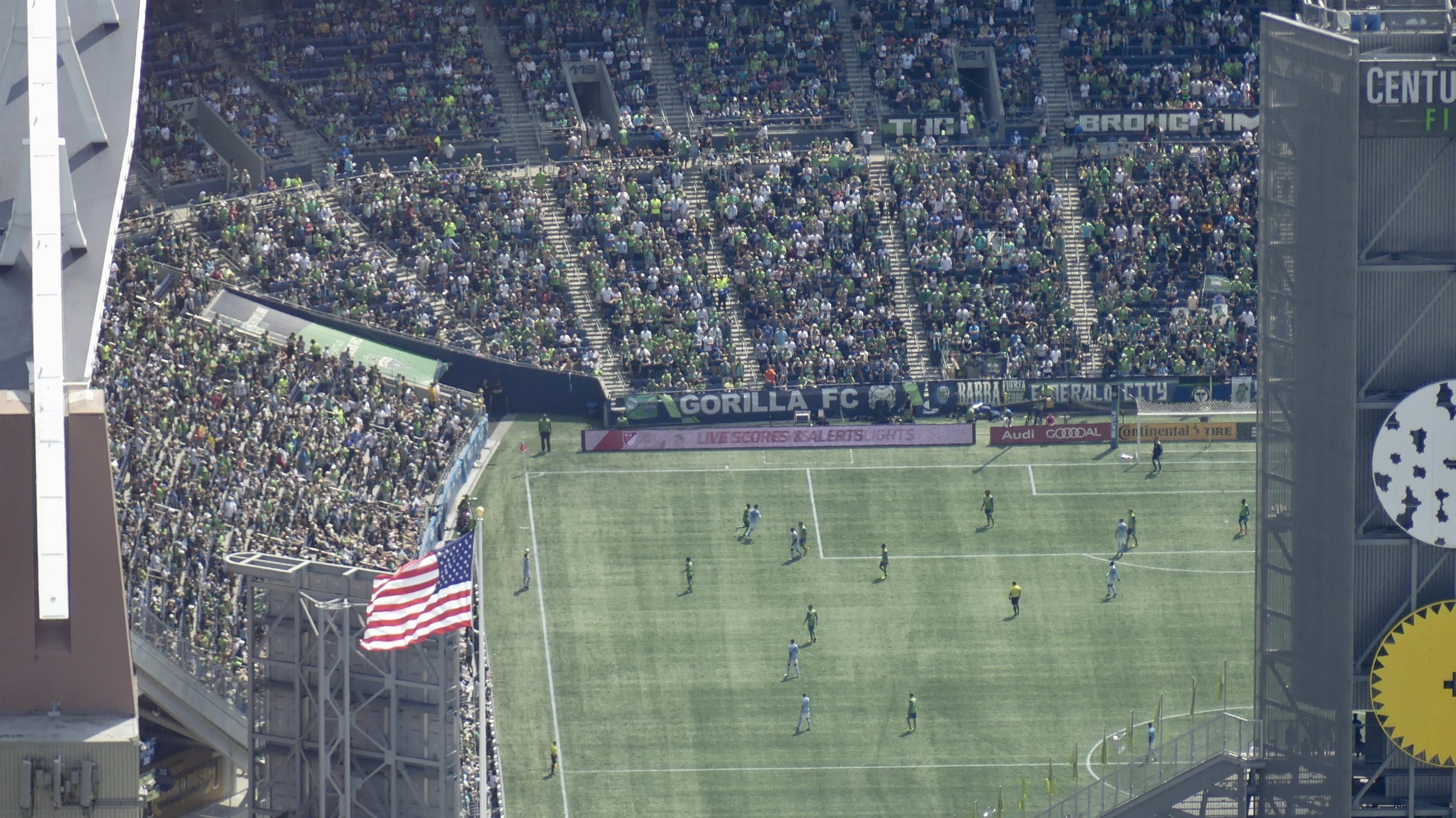 CenturyLink Field, home to the Sounders and the Seahawks (American football)