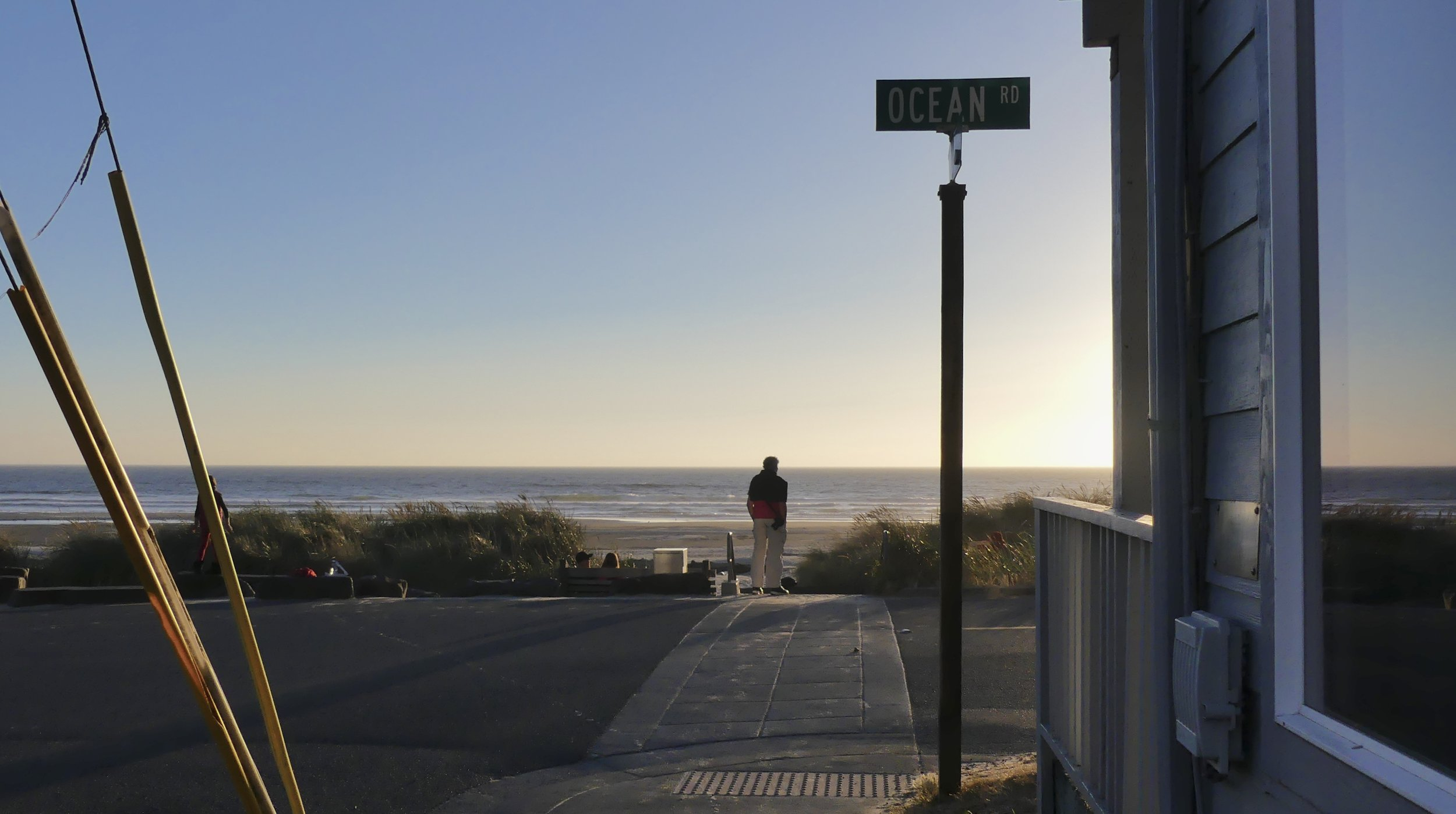 Man surveys the ocean