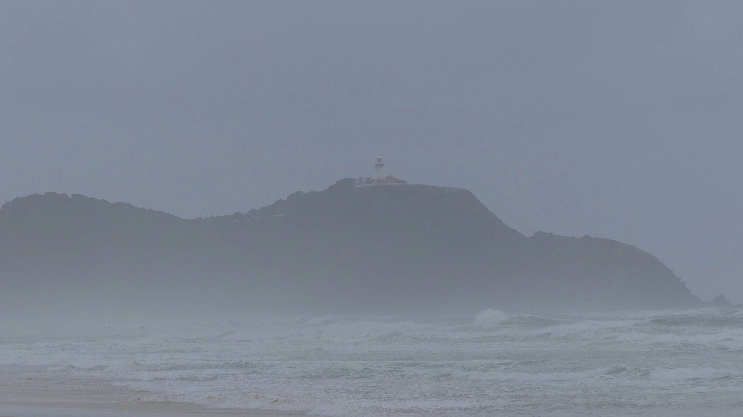 Cape Byron through mizzle