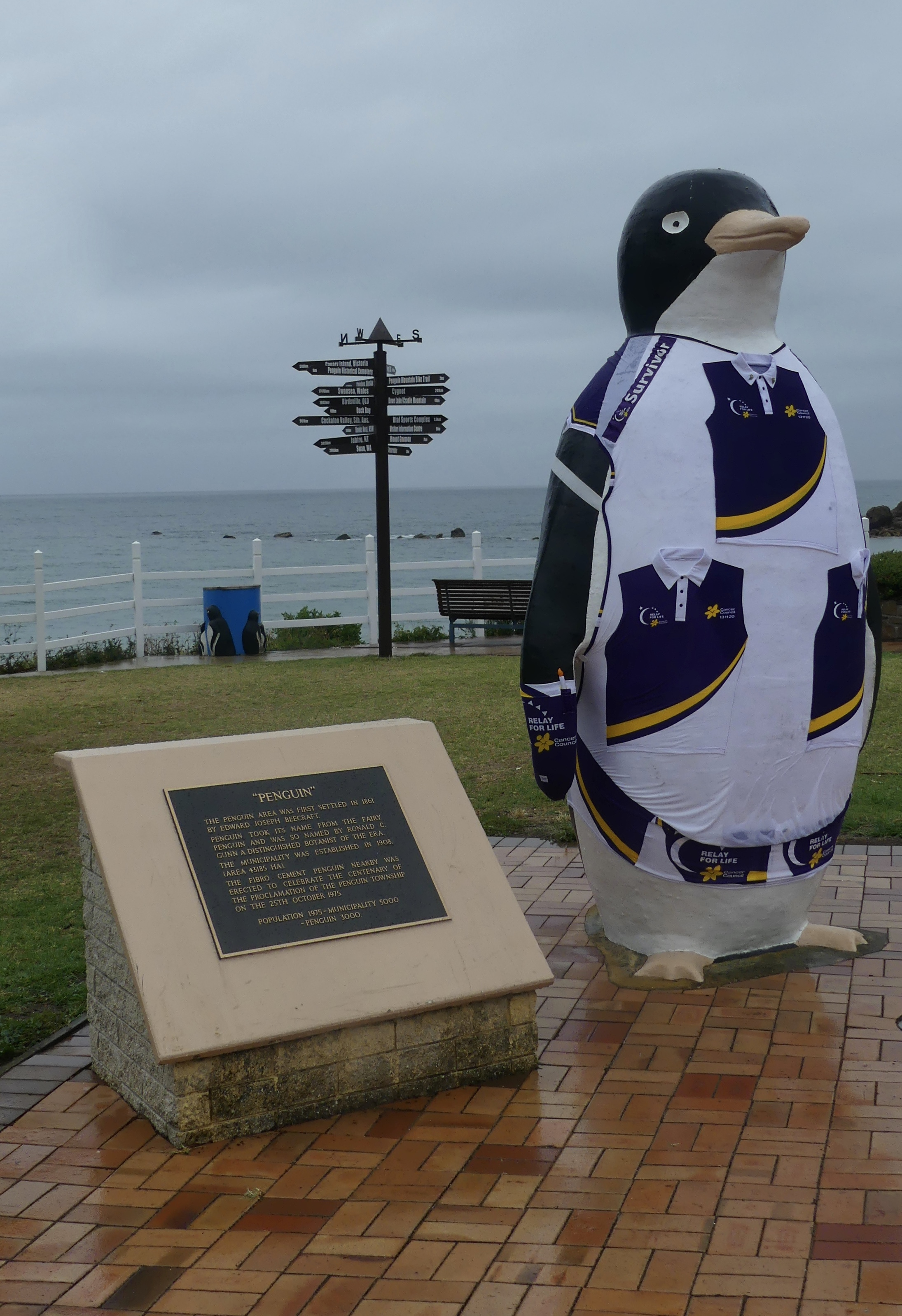 The Big Penguin supporting Relay for Life