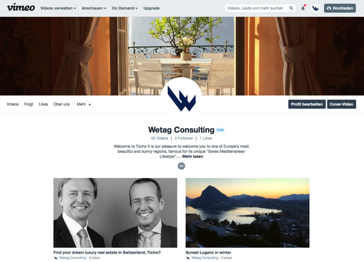 Vimeo Video canale di Wetag Consulting