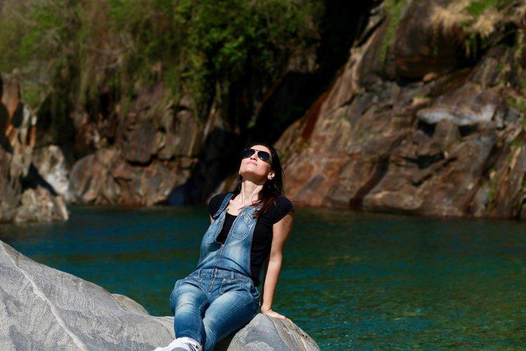 Pamela Pintus at Valle Maggia, Ticino, Switzerland