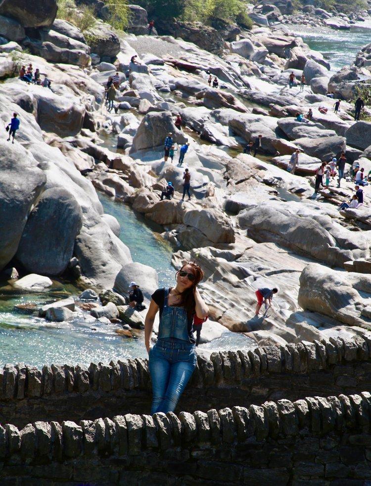 Pamela Pintus at Valle Maggia in Ticino, Switzerland