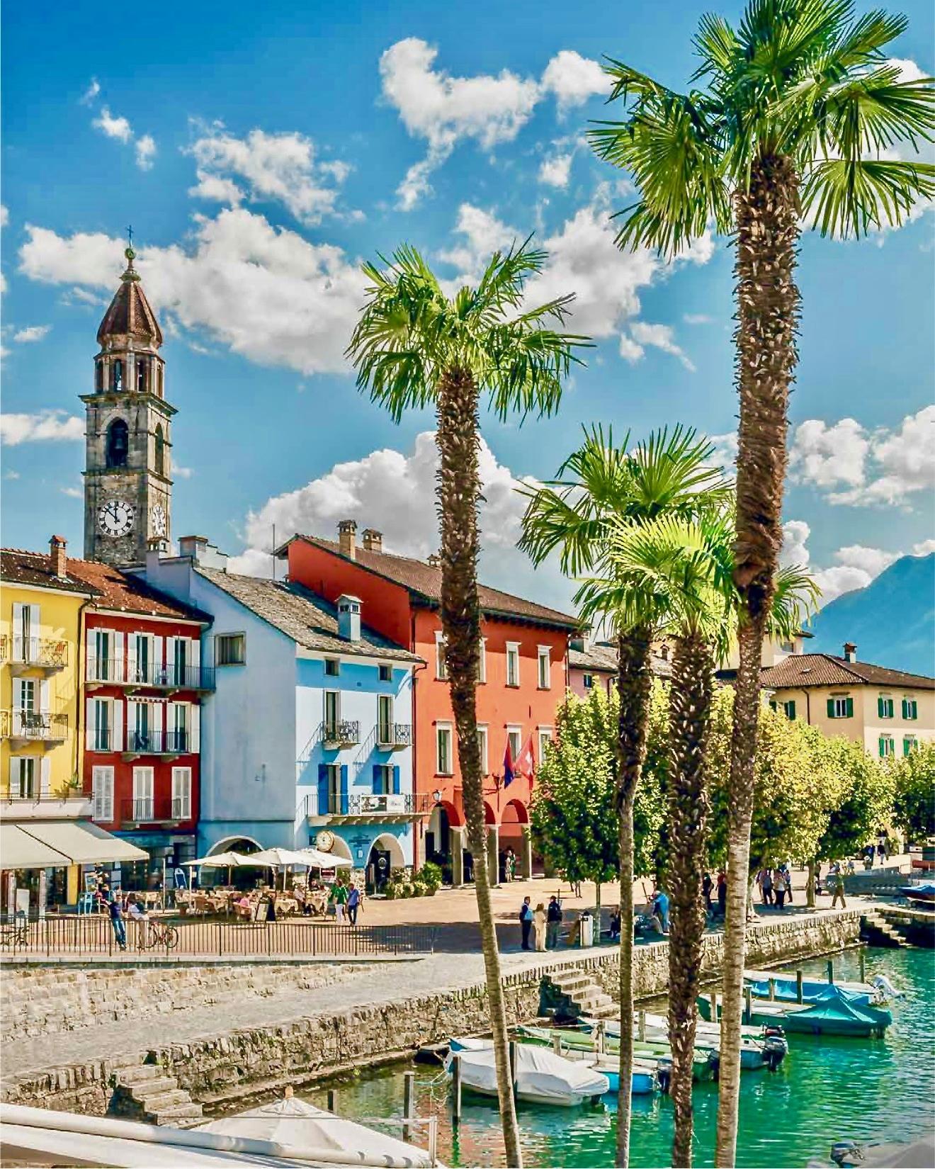 Lakeshore in Ascona, Ticino, Switzerland