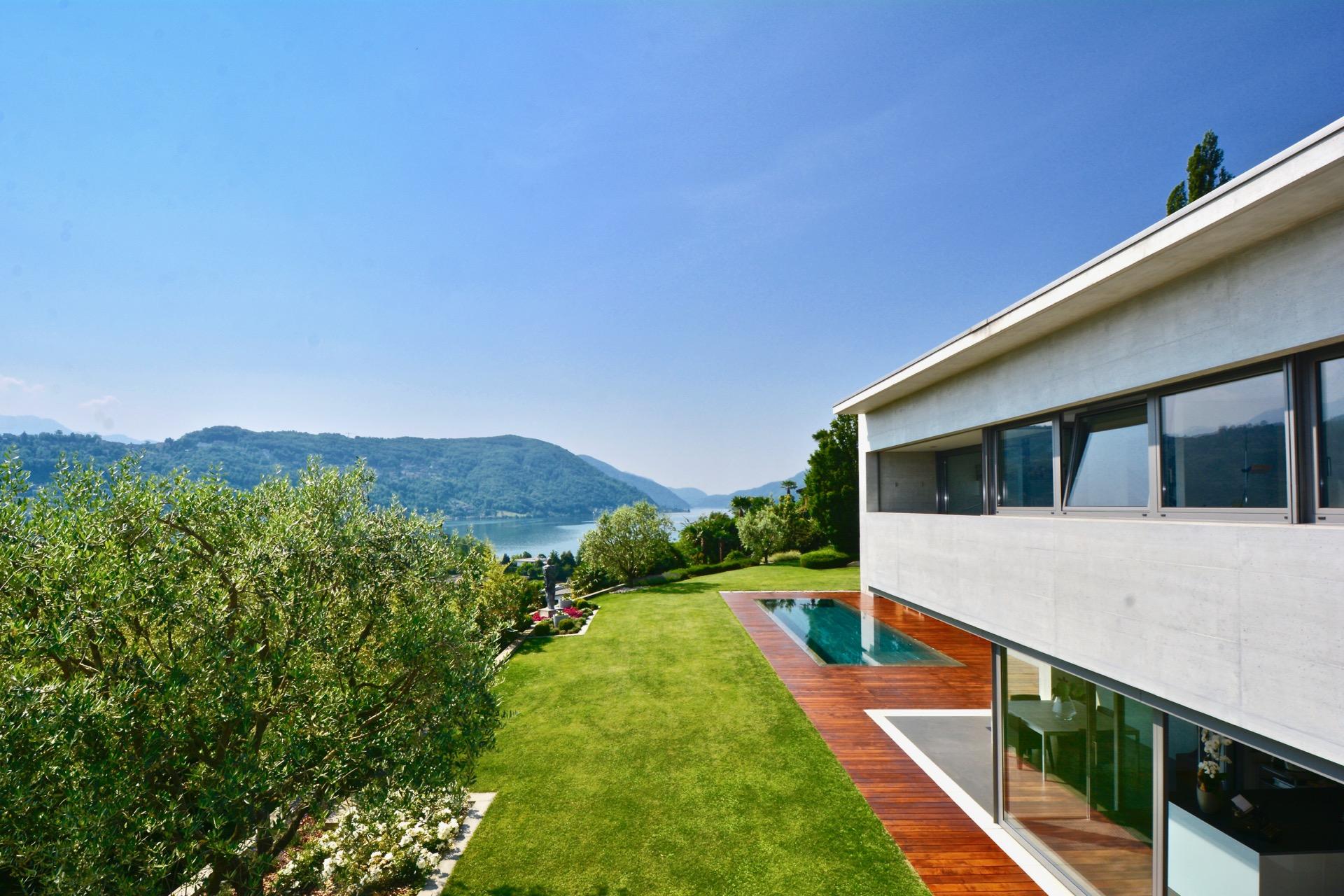 Villa design ad Agno, Svizzera in vendita con vista sul Lago di Lugano