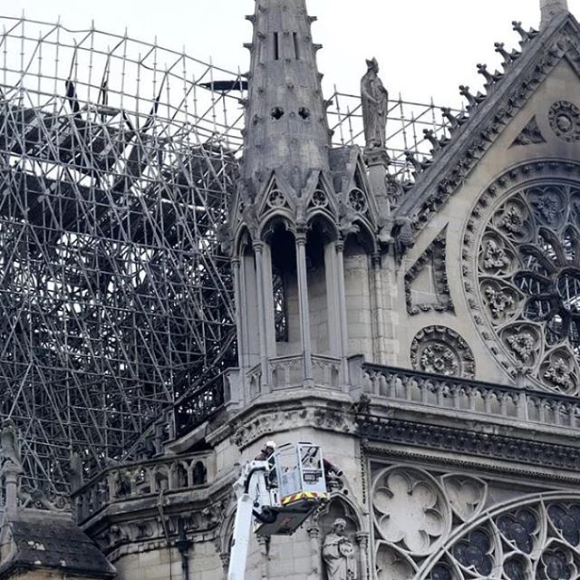 Heartbreaking. . .but time to rebuild.  This is one of the reasons we are so passionate about our jobs as architects. We build for the future with an eye on the past.  #notredamecathedral #prayforparis @nytimes
