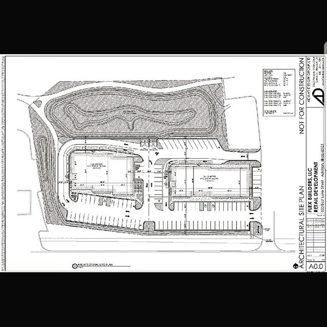 Site plan for a project we are working on. Knowing how all the pieces fit together is an important part of building.  We are often the first called and follow our clients' project until the end.  Many exciting projects in the works!! 🏗🏢 . . . #architectureforbusinesses #architect #construction #building #design #designbuild #commercialarchitecture #architecture #buildingbusinesses #drawing #constructionmanagement