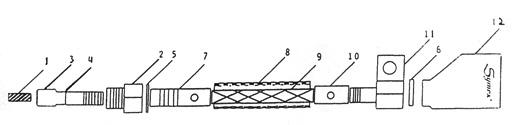Parts diagram for Symex S-3 360 Swivel Cables