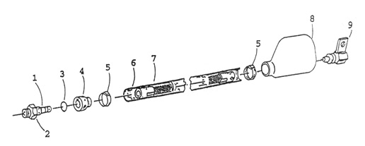Parts diagram for Symex S-5 340 Swivel Cables
