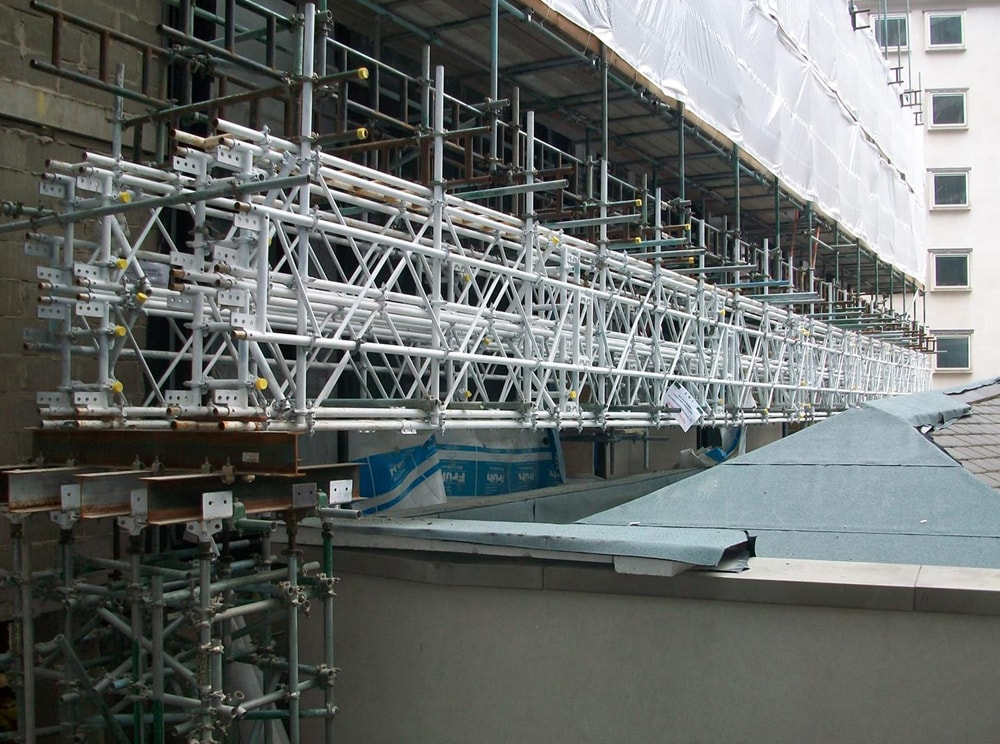 Standard modular scaffold components for access