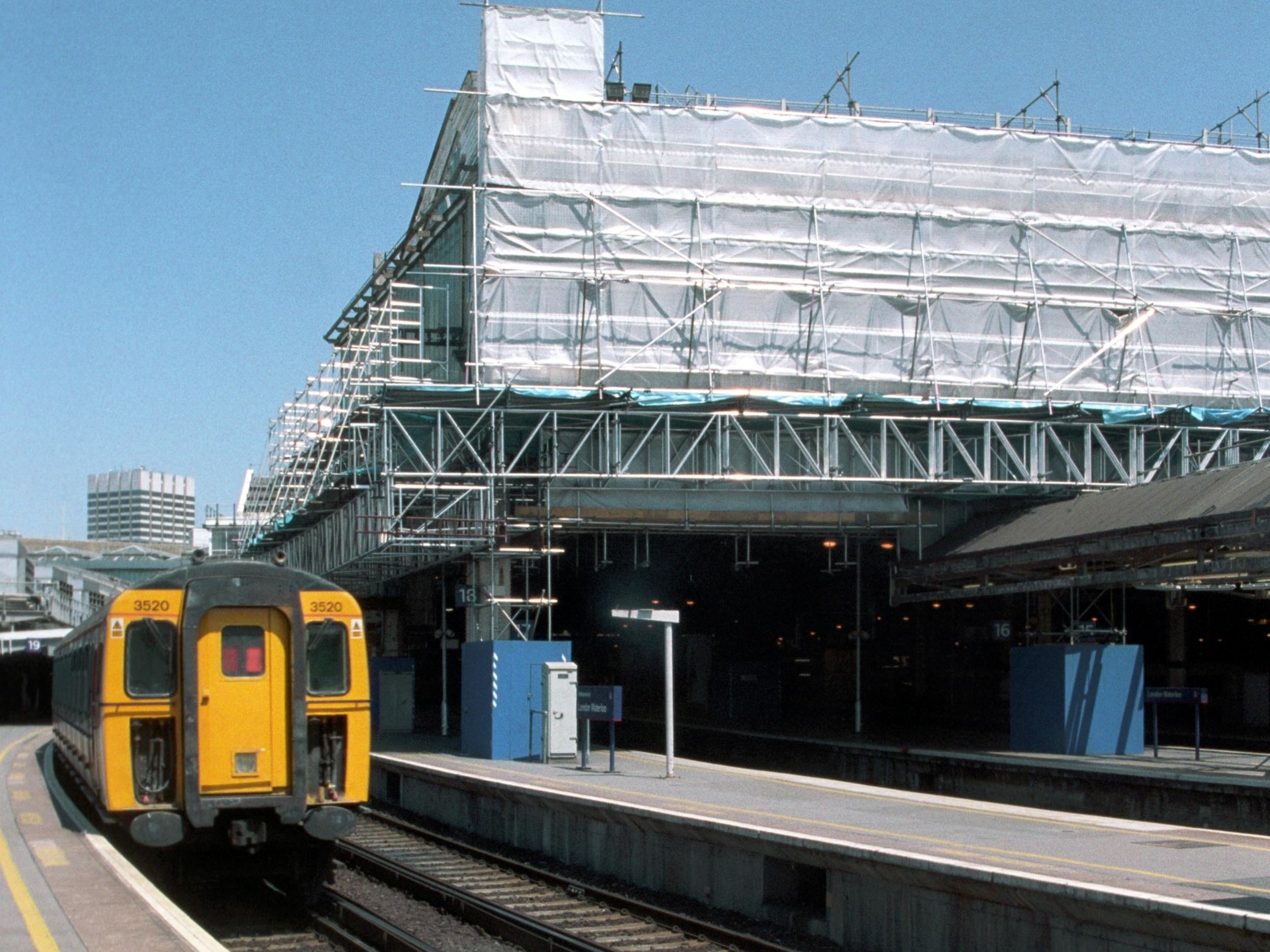 The railway remained fully operational during construction