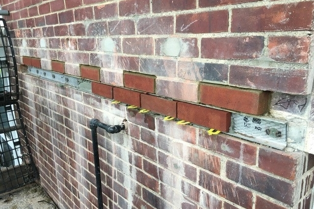 Installation of brick slip covers
