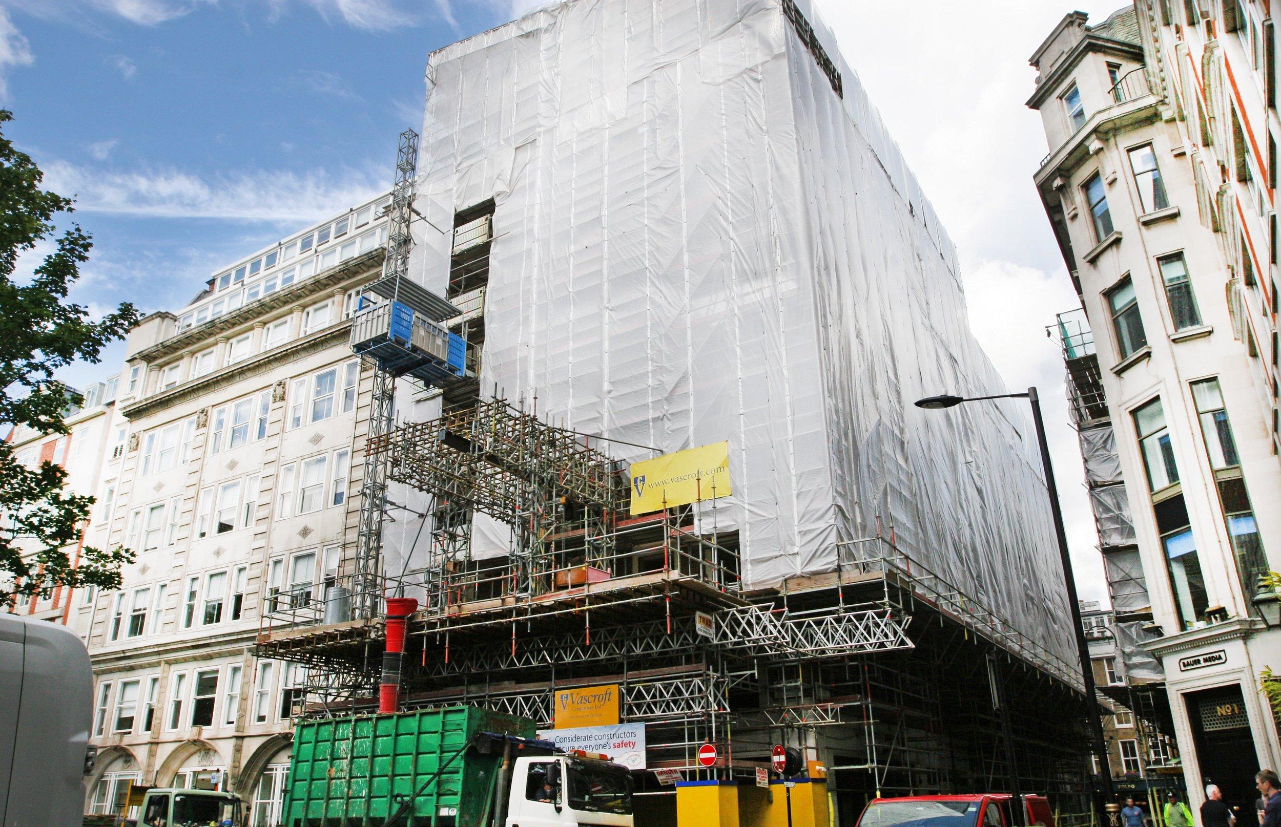 Scaffolding design for residential redevelopment