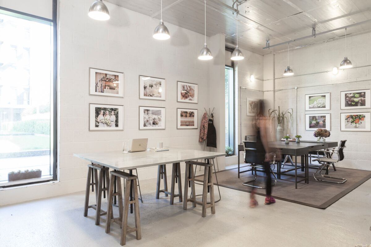 Wild Wood's studio has an industrial vibe and mixes bespoke design & high street pieces