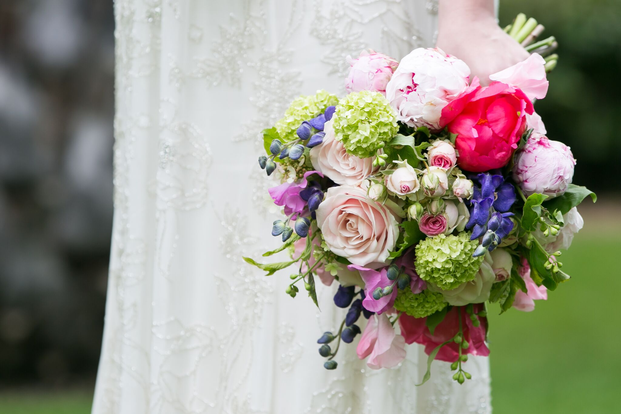 Blooming beautiful bridal bouquet