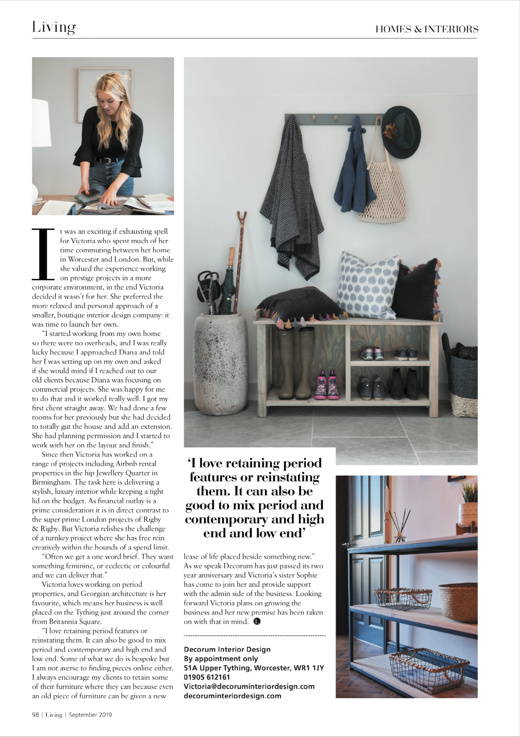 Living Magazine Liveable Luxury Decorum