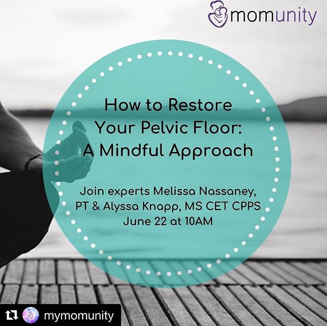 #Repost @mymomunity ・・・ In honor of #pelvicpainawareness month we are teaming up with @mypelvichealthpt and Alyssa Knapp for a workshop for all mamas to restore your pelvic floor using a mindful approach! 🌸🧘🏻‍♀️🙋🏽‍♀️ Join us at @healthybabieshappymoms LINK IN BIO