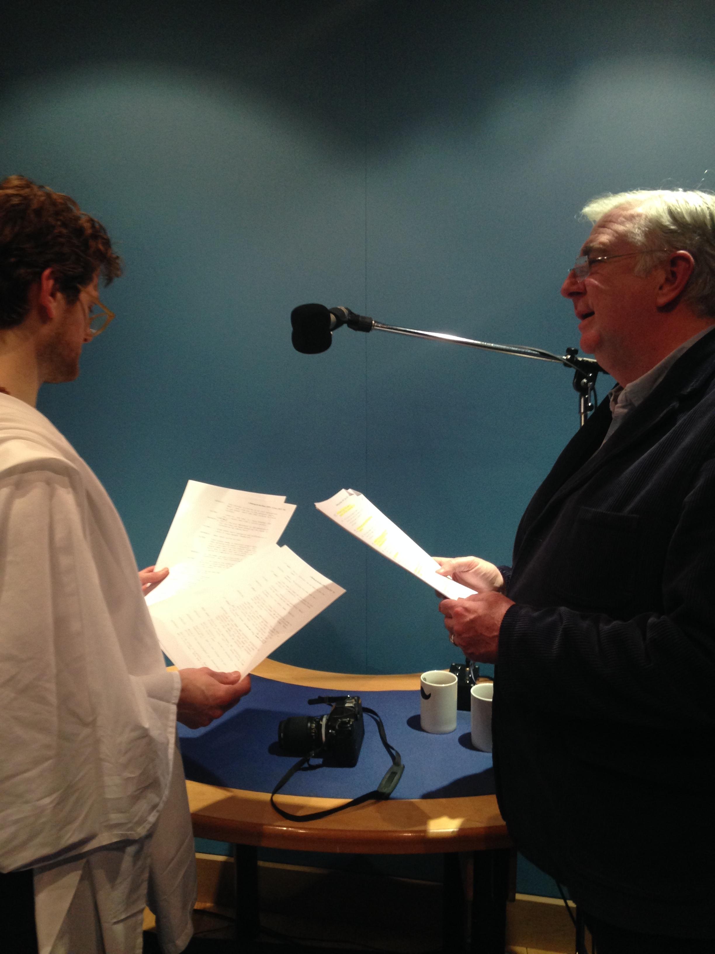 Kyle Soller with Gerard Horan.