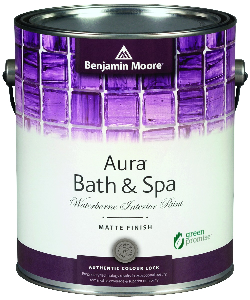AURA®BATH & SPA WATERBORNE INTERIOR PAINT - With a beautiful matte finish, Aura Bath & Spa is a premium-quality interior paint specially formulated to resist mildew growth in humid areas such as bathrooms and spas.