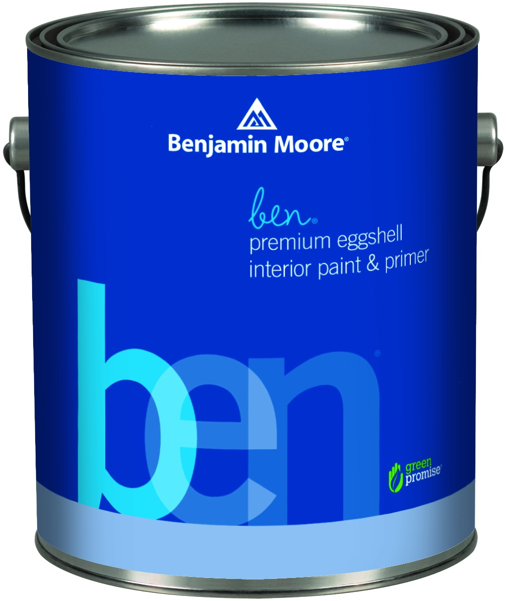 BEN®WATERBORNE INTERIOR PAINT - ben® offers the Benjamin Moore standard of performance while meeting the specific needs for an entry level premium product. Ben offers a zero VOC product without sacrificing the consumer's desire for quality.