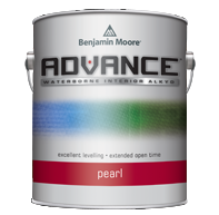 ADVANCE®WATERBORNE INTERIOR ALKYD PAINT - ADVANCE offers the application and performance of traditional oil paint in a waterborne formula that cleans up with soap and water. It is a 100% alkyd formula water dispersible alkyd developed with proprietary new resins that keep VOCs low even after tinting. It flows and levels like a traditional alkyd with the extended open-time required to achieve high-end finishes. ADVANCE is available in unlimited colours, giving you more ways than ever to achieve the perfect look on every job.