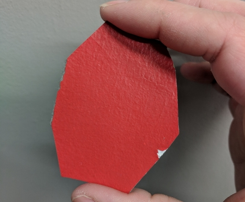 The most ideal paint sample is the size of a toonie.