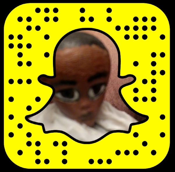 """Look a """"Snapcode!"""" But only my brother will immediately recognize """"who"""" is featured in the image."""