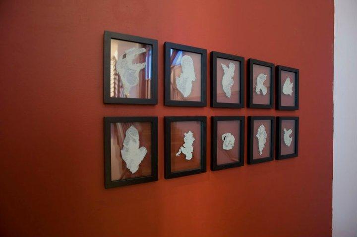 (Installation at the Teaching Gallery, Hudson Valley Community College Fine Arts Alumni Exhibition 2010)
