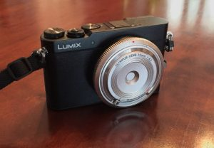 Panasonic GM-5 with body cap lens attached.