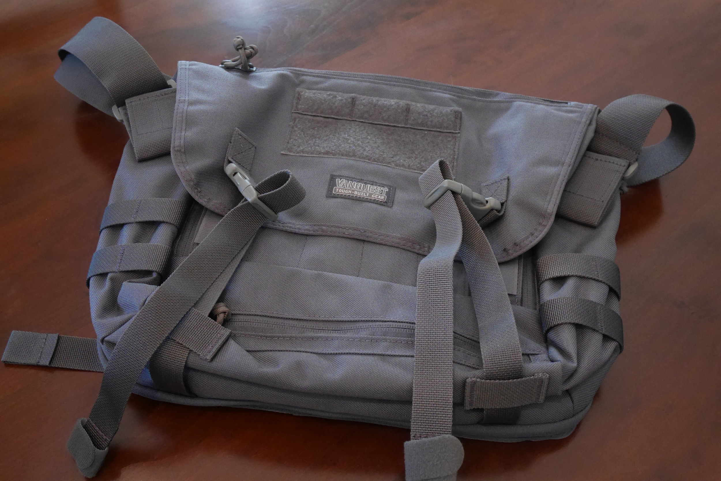 The Vanquest SKITCH-12 Messenger Bag out of the shipping box.