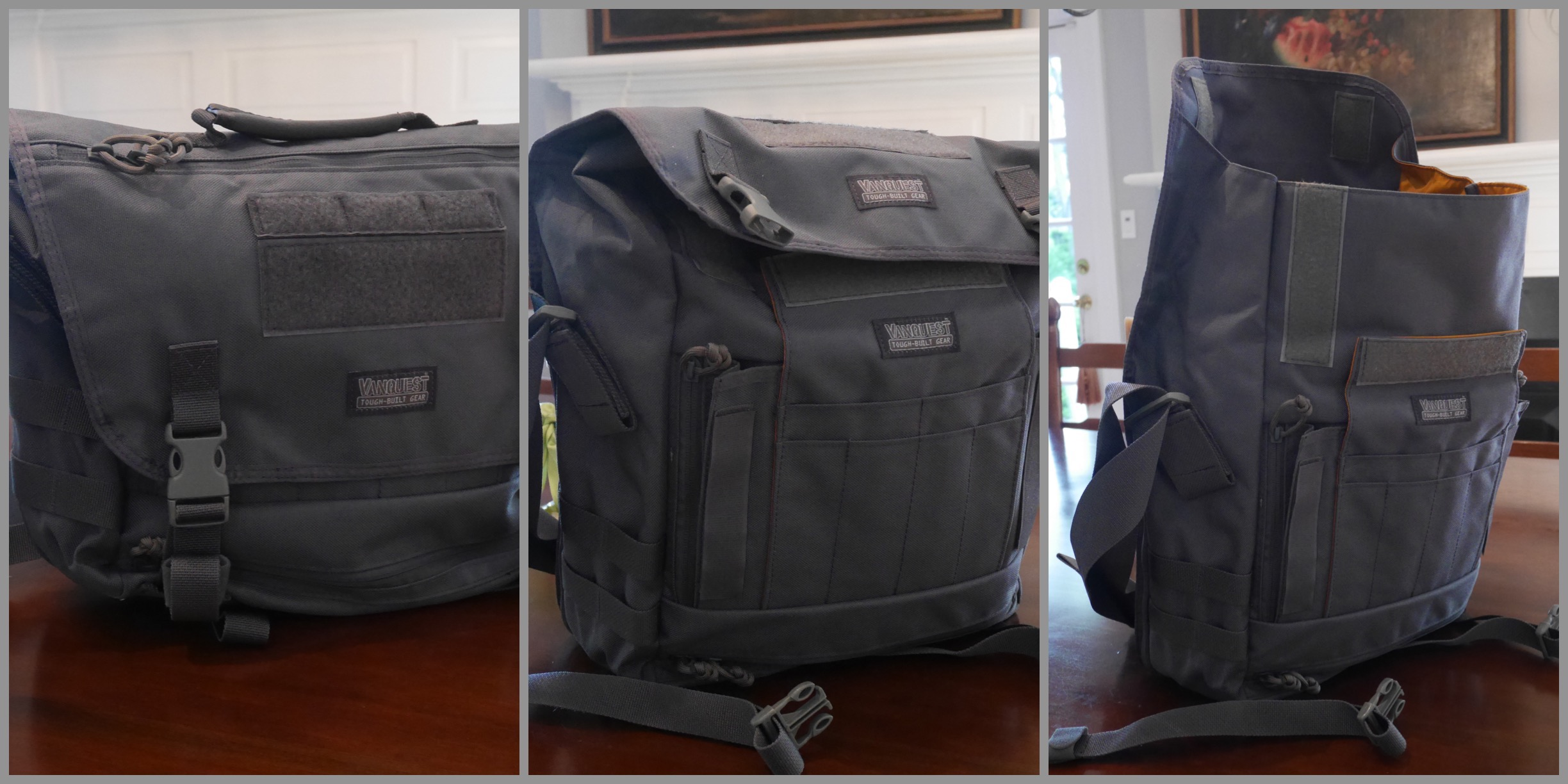 """The """"Short,"""" """"Medium,"""" and """"Tall"""" configurations of this bag."""